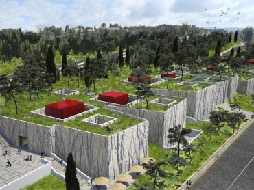 Jerusalem's Natural History Museum is a Green-Roofed Subterranean Monument