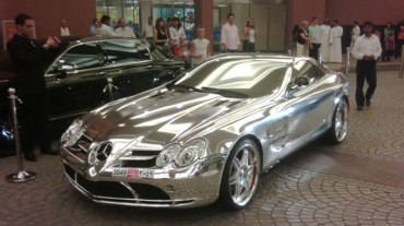 How Much Gold Goes into a White Gold Mercedes Sports Coupe?