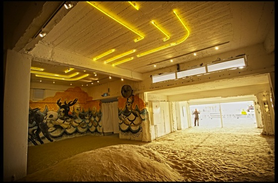 Riviera Seaside Art Gallery Features a Sand Floor and Gritty Art in Israel