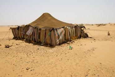 Looking Inside a Bedouin Tent