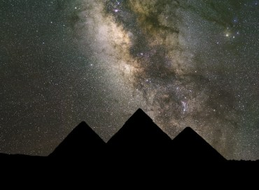 A Planetary Conjunction With Giza's Pyramids
