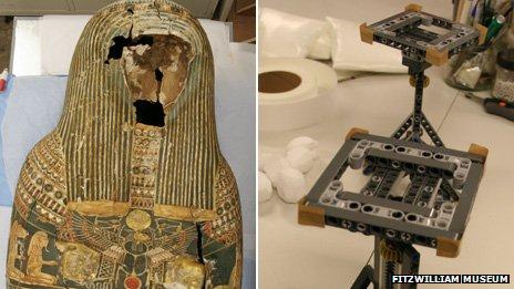Egyptian Mummy Gets a LEGO Heart at Cambridge Universtiy