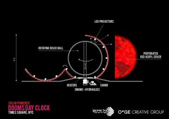 Solar-Powered Doomsday Clock by O*GE