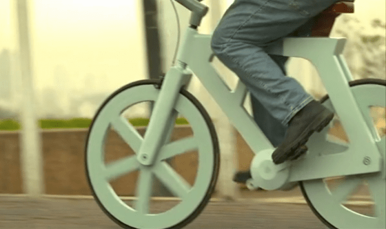 $9 Cardboard Bike from Israel Going to Market