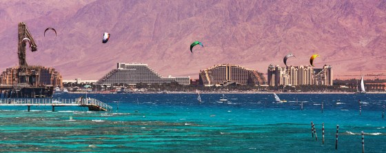 kite surfing red sea, Eilat, Israel