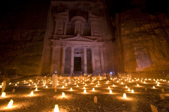 petra candle light dark sky tourism