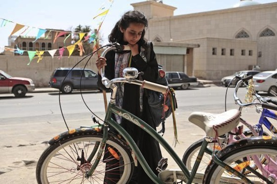 wadjda green bicycle