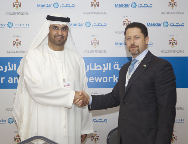 Jordan and Masdar Ink Clean Energy Deal