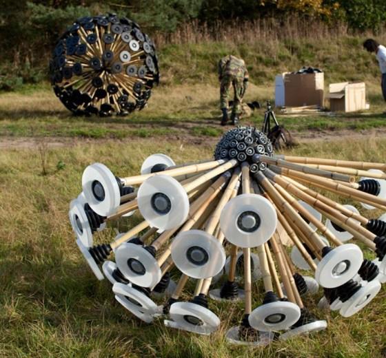 Mine Kafon, Massoud Hassani, bamboo, wind-powered minesweeper, Afghanistan, land mines, Egypt