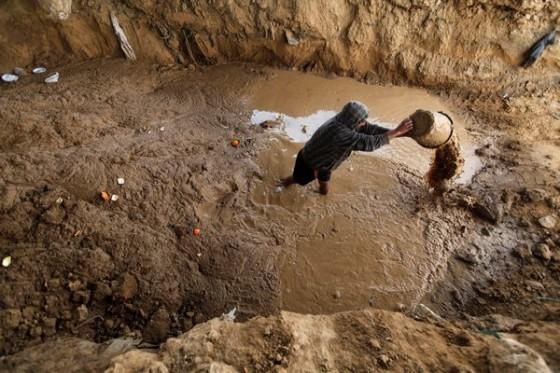 gaza rafah raw sewage egypt, tunnels
