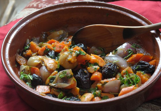 sustainable sweet potato tajine