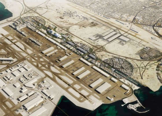 OMA, Qatar, Airport City, Doha, Hamad International Airport, 2022 World Cup, urban design, green space