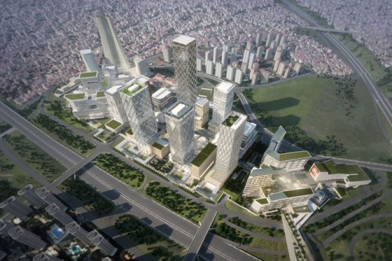 green roof, renewable energy, HOK, Istanbul, International Financial Center, Urban design, architecture, clean tech, green space