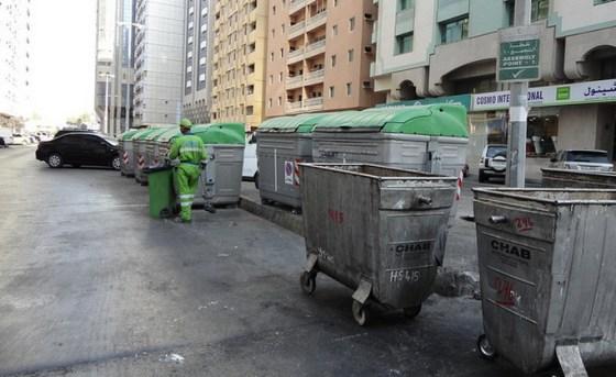 abu dhabi waste bin, garbage