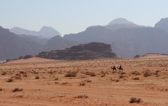 Camel ride Jordan Red Desert wadi rum