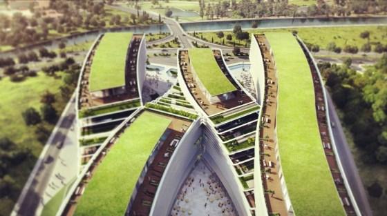Premier Campus Office, JDS Architects, Kagithane, Istanbul, Turkey, green roof, green design, urban planning