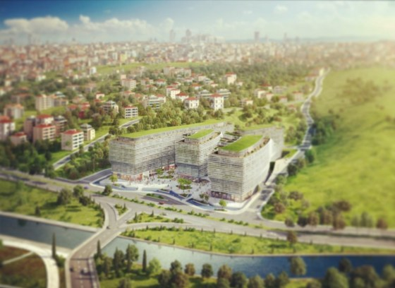Premier Campus Office, JDS Architects, Kagithane, Istanbul, Turkey, green roof, green design, urban planning