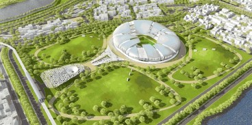 Tangram 2022 World Cup Stadium Cools Itself Like a Lizard