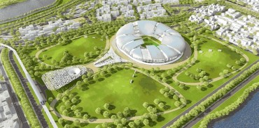 Tangram 2022 World Cup Stadium Cools Itself Like a Lizard