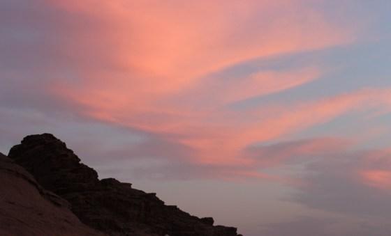 sky blue pink Jordan Red Desert wadi rum