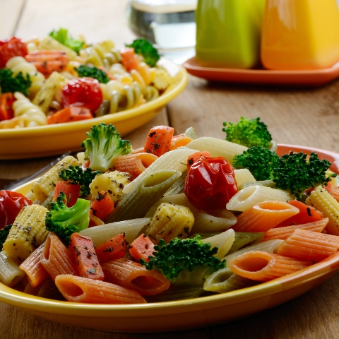 Tri-color Pasta Salad With Summer Vegetables Vegan RECIPE