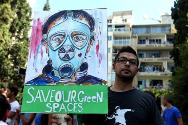 Beirut Demonstration jesuit garden park lebanon