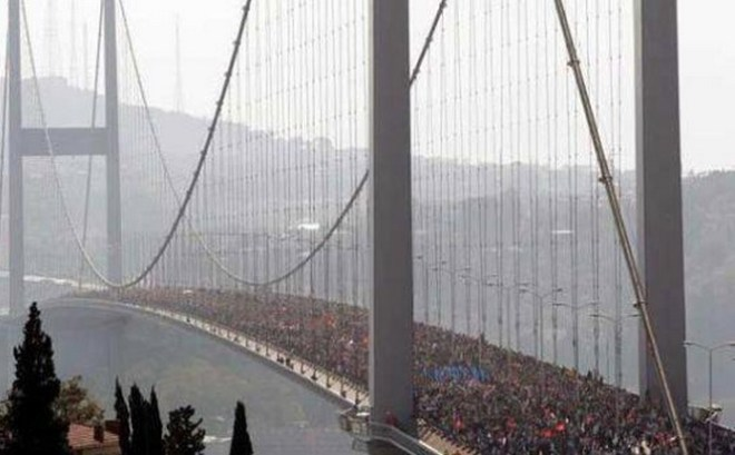 occupy gezi bridge, istanbul Turkey protests