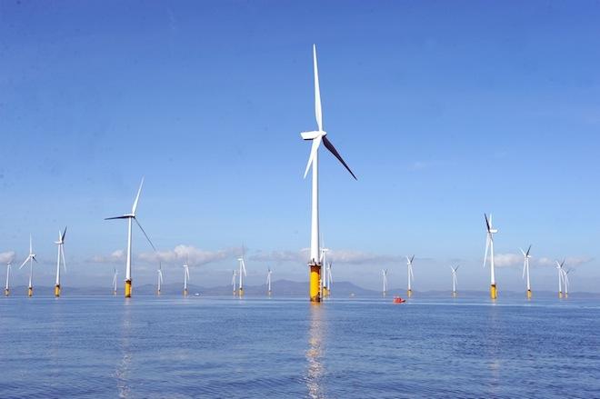 Offshore wind farm, wind energy, Masdar, London Array, renewable energy, clean tech, green tech, UK, E.On, Dong,