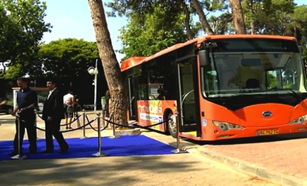 First Electric Bus Brightens Tel Aviv's Streets