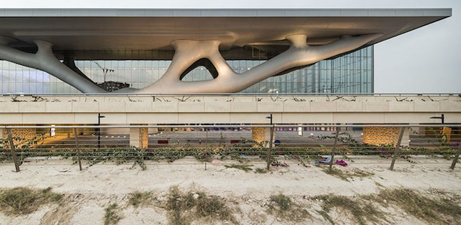 Arata Isozaki, QNCC, Qatar, LEED Gold, Nelson Garrido, sustainable design, Middle East, eco-design, green design