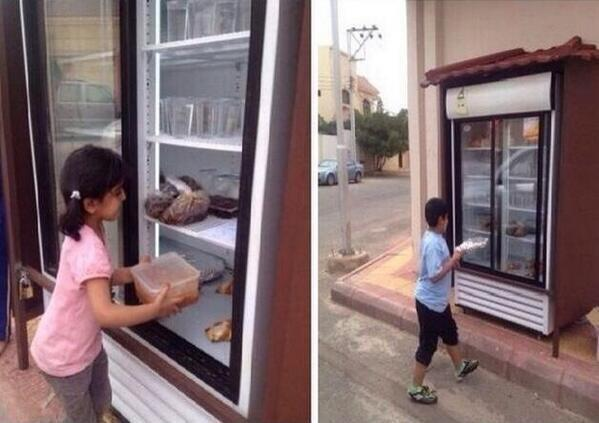 Saudi man's charity fridge reduces food waste and helps the poor