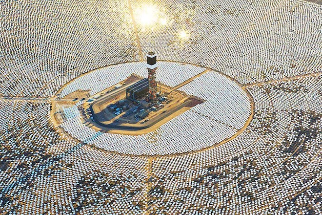 BrightSource, Ivanpah, California, Mojave Desert, US Solar Projects, clean tech, concentrating solar energy, ISEGS, world's largest solar thermal plant, PG&E, NRG Solar, Google, Southern California Edison, renewable energy,