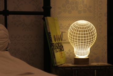 Studio Cheha's awesome optical illusion makes flat LED lamps look 3D