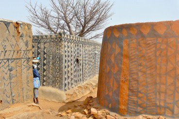 The beautiful painted earth homes of Burkina Faso