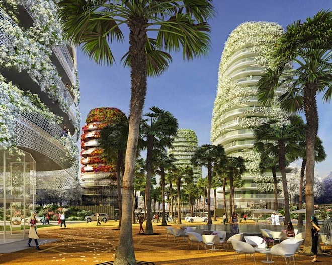 Gardens of Anfa, Edouard Francois Designs, Casablanca, Morocco, vertical garden, urban planning, green design, sustainable design, mixed-use complex, gentrification