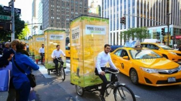 Sukkat blessing for urbanites: All aboard the pedi-sukkah!