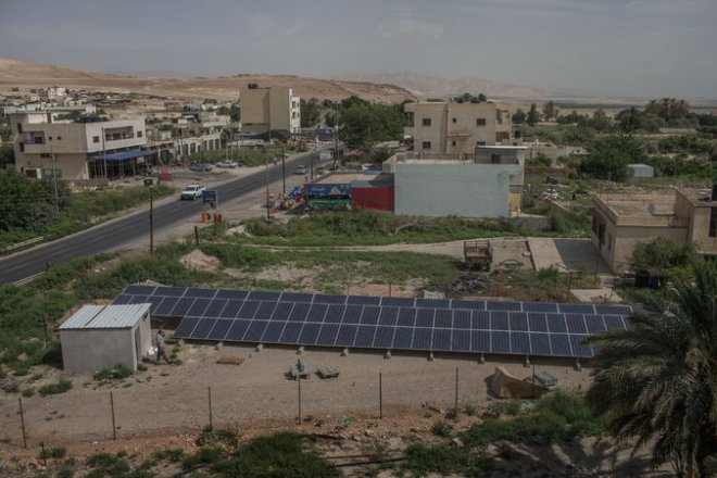 SOLAR west bank panels
