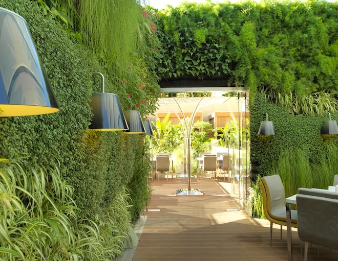 Vertical gardens in Lebanon based on traditional Arabia designs
