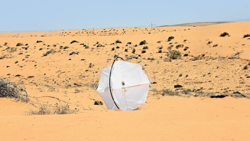 Wind-powered Tumbleweed robot rolls back encroaching deserts