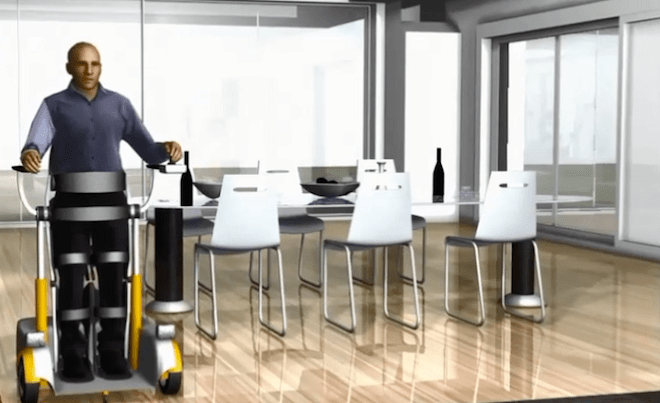 Segway-like device allows quadriplegics to 'walk' upright again