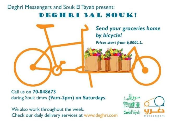 bike messenger groceries