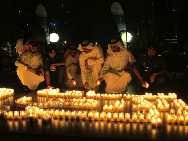 earth hour, WWF, energy conservation, lights out, 2014 earth hour, burj khalifa, middle east, north africa, Jordan, Egypt, Dubai, Abu Dhabi, Turkey, Iran