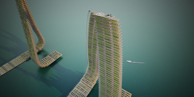 Responsive floating agriculture to feed the Middle East?