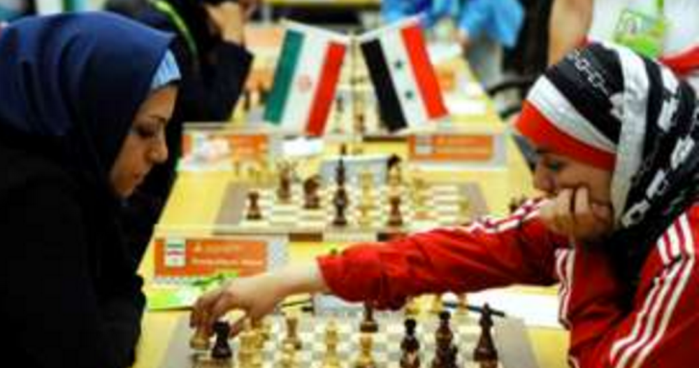The hijab takes on chess and gambling