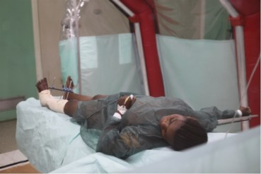 There is negative pressure on Ebola with Sys isolation tents from Israel