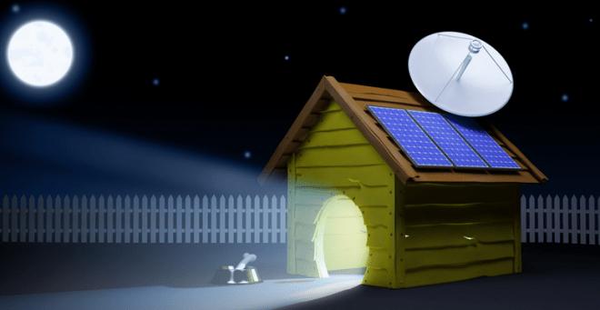 solar panel dog house