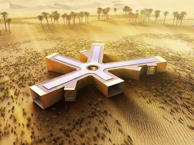 Solar retreat in the Liwa Desert – futuristic functionality or rich man's folly?