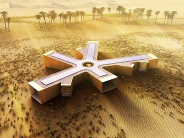 Solar retreat in the Liwa Desert – futuristic functionality or rich man's folly?