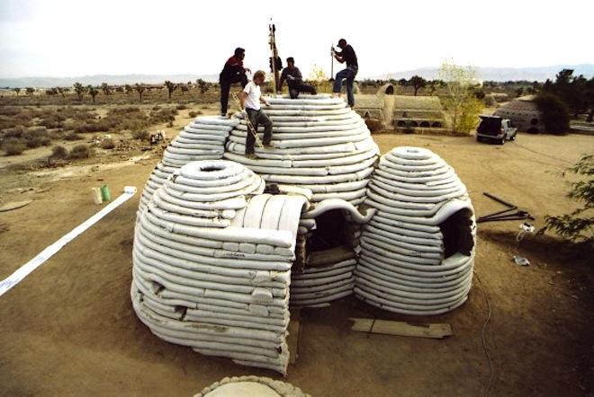 refugee housing, temporary shelter, humanitarian design, refugee shelters, homes for refugees, Nader Khalili, earth construction, green design, iranian earth shelter