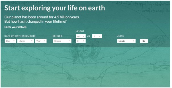How much Has the earth changed since you were born?